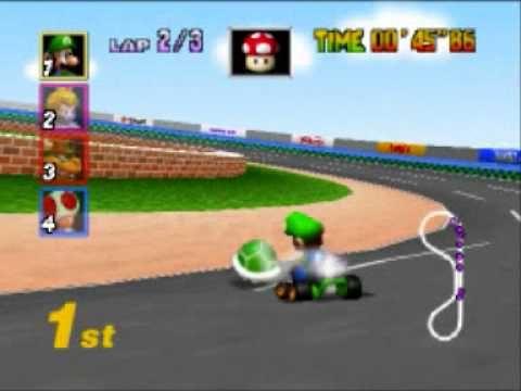 Luigi Mario Kart 64