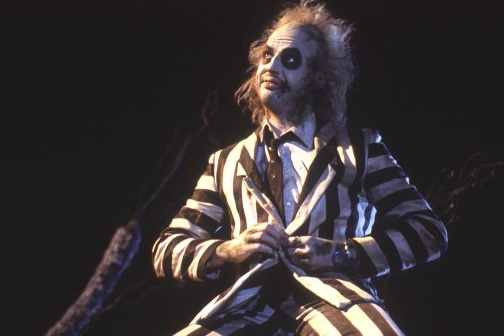 Beetlejuice in striped suit