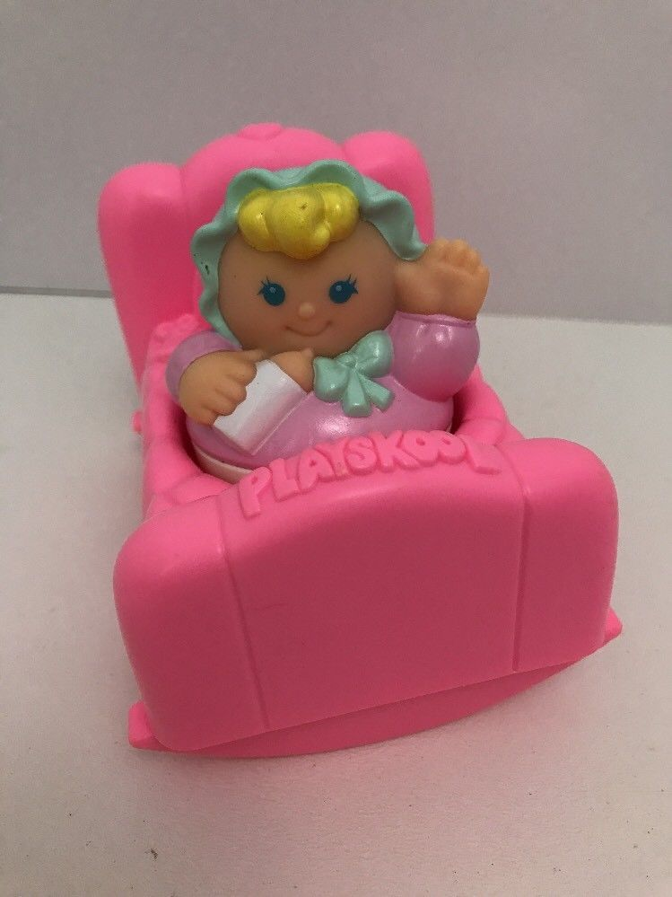 Weebles Baby with crib