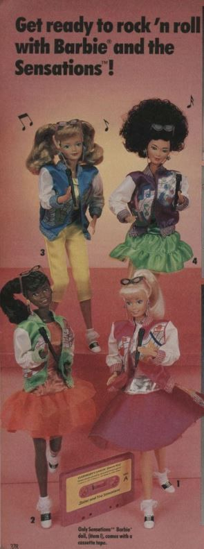 Sears Wishbook Barbie sensations