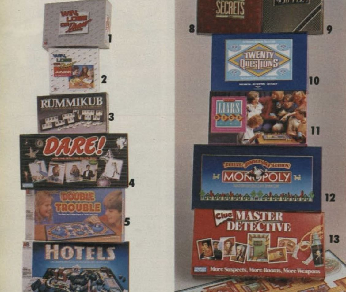 board games 1988