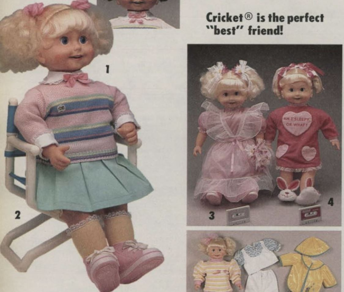 Talking Cricket doll