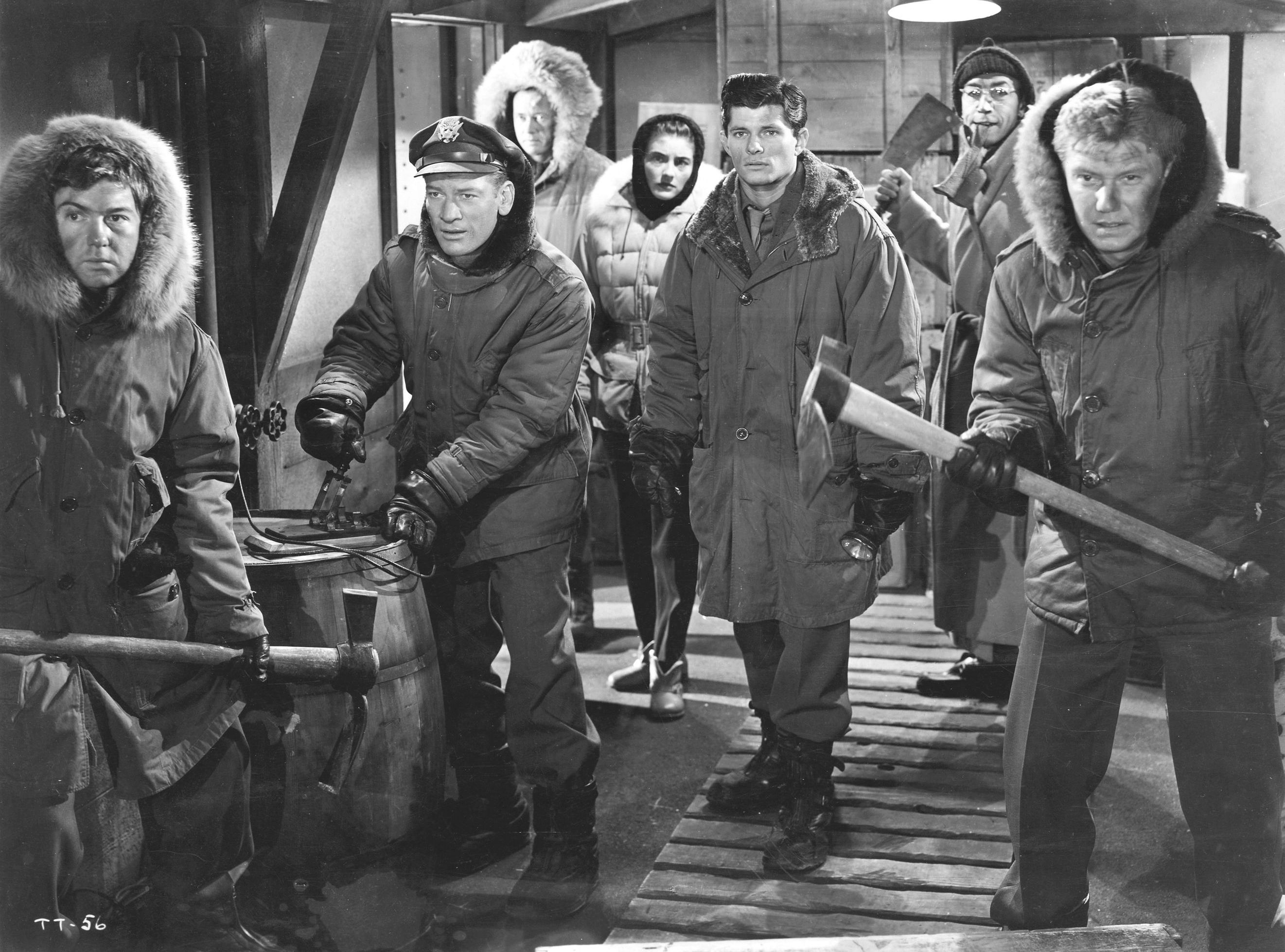 The cast of 'The Thing From Another World'