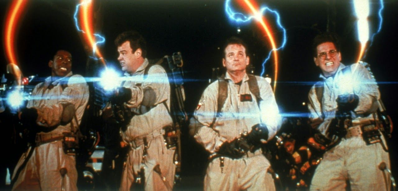 Ghostbusters shooting proton packs