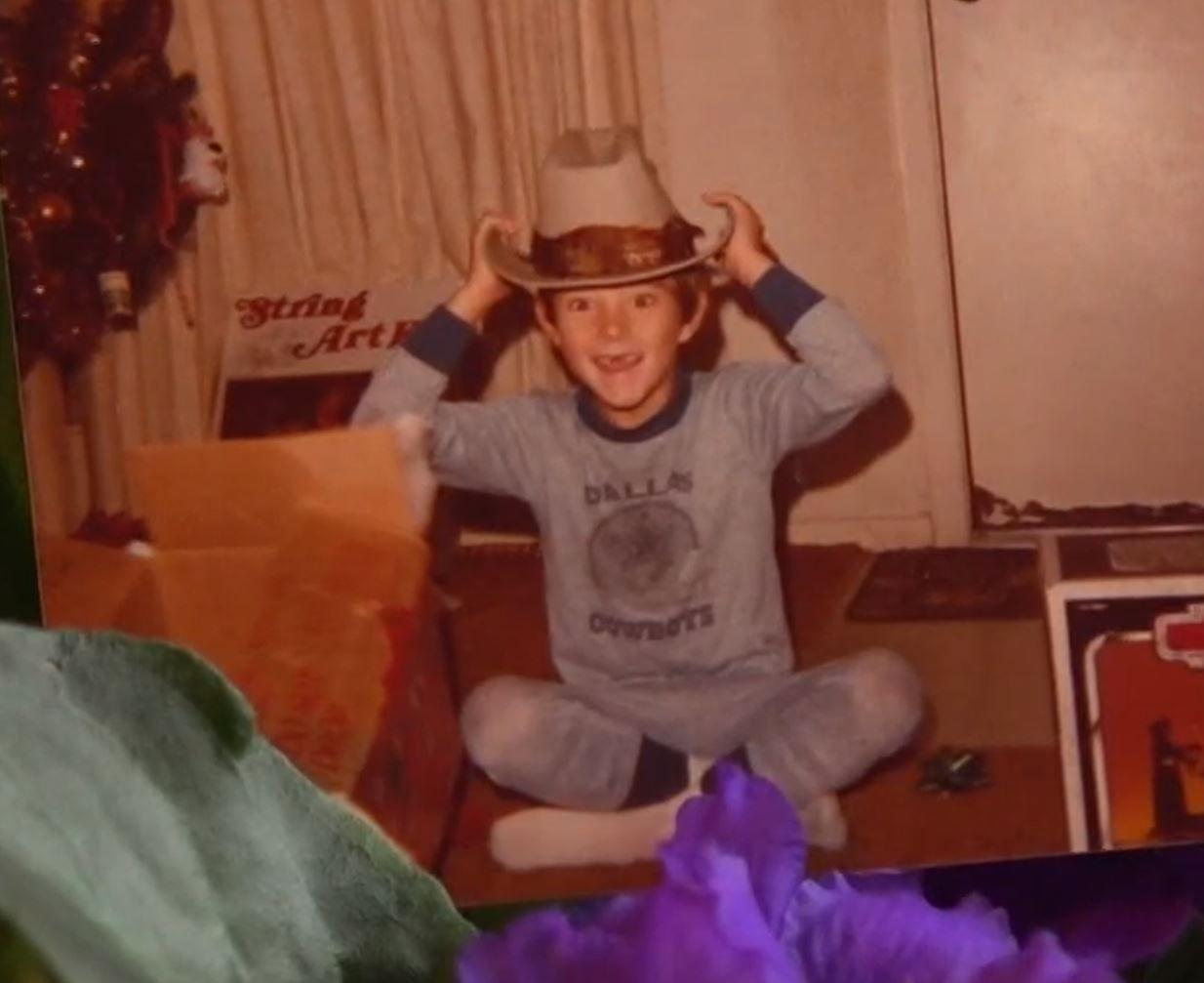 Jeremy Delle as a child.